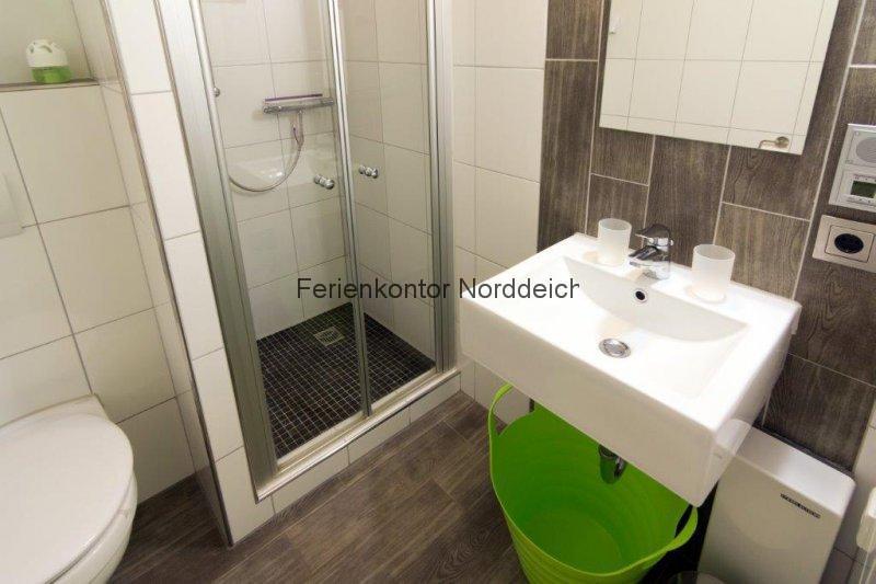 Ferienwohnung strandbox - Badezimmer strand look ...