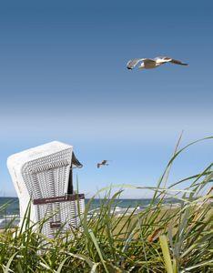 Unsere Ferienwohnungen in Norddeich haben einen Strandkorb