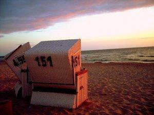 Strandkorb am Strand von Norddeich
